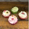 COFFRET 4 CUP CAKES  FRUITY